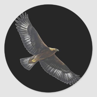 Glorius Golden Eagle Soaring Stickers