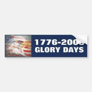 Glory Days Bumper Sticker