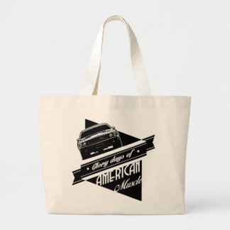 Glory Days of Muscle Large Tote Bag