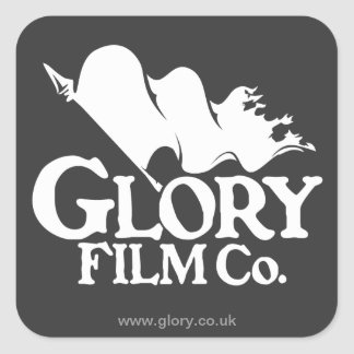 Glory Film Co. Logo Stickers. Square Sticker