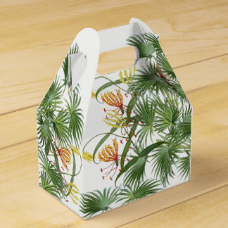 Glory Lily Flowers Palm Fronds Favor Box