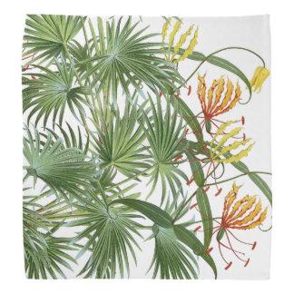 Glory Lily Flowers Palm Tree Fronds Bandana
