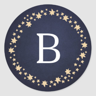 Glory Monogram Round Sticker
