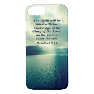 Glory of the Lord, Bible Verse, Habakkuk 2:14 iPhone 8/7 Case