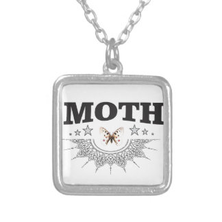 glory of the moth silver plated necklace