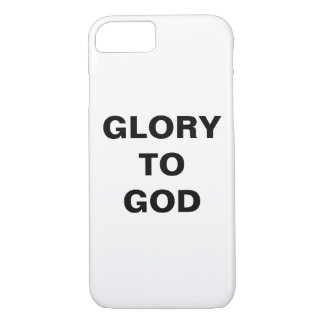 """Glory To God"" Apple iPhone 8/7 Case"