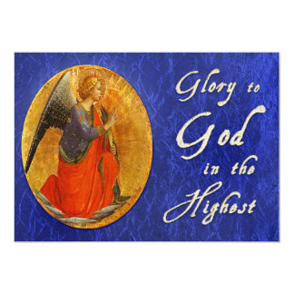 Glory To God In the Highest Christmas Card 13 Cm X 18 Cm Invitation Card