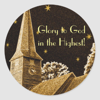Glory to God in the Highest! Classic Round Sticker