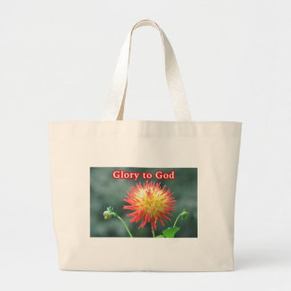 Glory To God Large Tote Bag