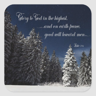 Glory to God - Luke 2:14 Square Sticker