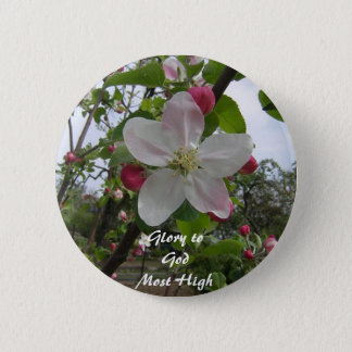 Glory to God Most High 6 Cm Round Badge