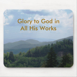 Glory to God Mouse Pad