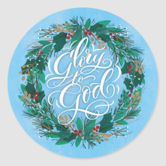 Glory to God Wreath | Holiday Sticker