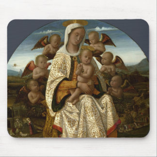 GLORY TO JESUS AND MARY MOUSE PAD