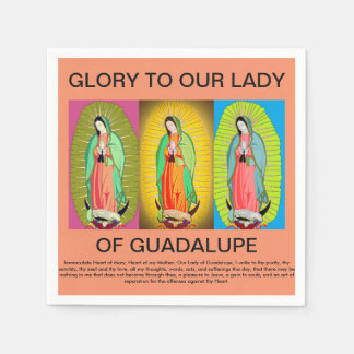 glory to our lady of guadalupe disposable napkin