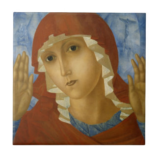 GLORY TO THE BLESSED VIRGIN MARY SMALL SQUARE TILE