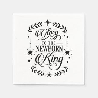 Glory to the Newborn King Christmas | Disposable Napkins