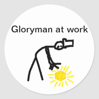 Gloryman at Work Classic Round Sticker