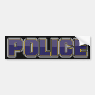 Gloss Police Department Dark Blue Bumper Sticker