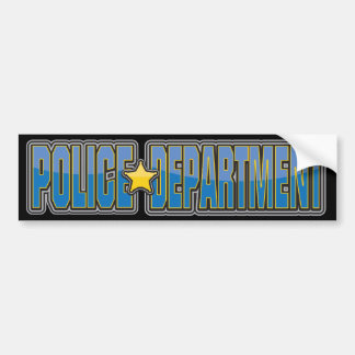Gloss Police Department Light Blue Bumper Sticker