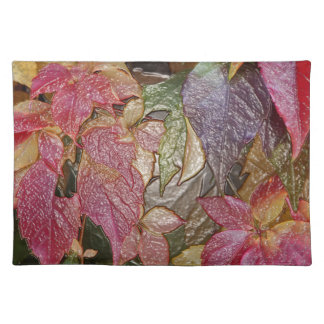 Glossy autumn leaves, Wax-Look 001.1 Placemat