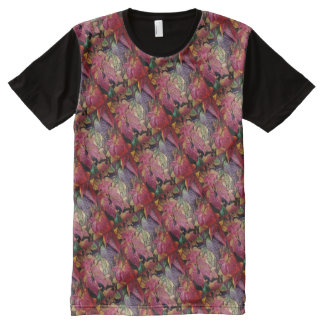 Glossy autumn leaves, Wax-Look R01.2.F All-Over Print T-Shirt