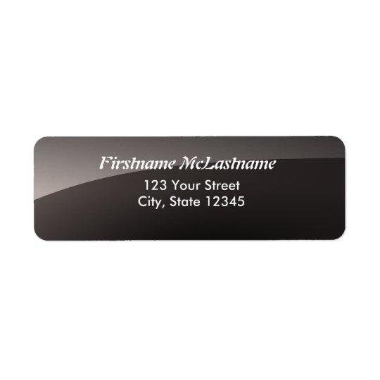Glossy black address labels
