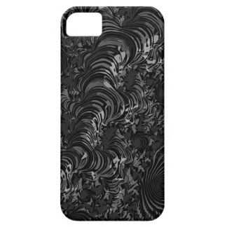 Glossy Black Fractal Abstract iPhone 5 Cover
