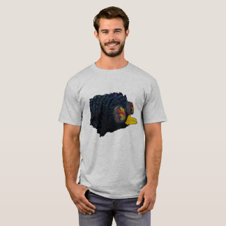 Glossy Blackbird with shimmering feathers | shirt