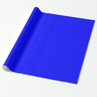 Glossy Bright True Blue Wrapping Paper