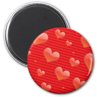 Glossy Glass Heart Magnet