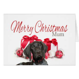 Glossy Grizzly Mum Merry Christmas Note Card