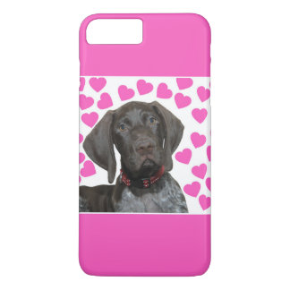 Glossy Grizzly Valentine's Puppy Love iPhone 7 Plus Case