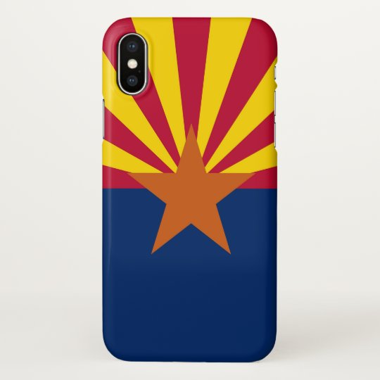 Glossy iPhone Case with Flag of Arizona, USA