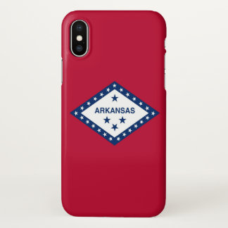 Glossy iPhone Case with Flag of Arkansas, USA