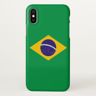 Glossy iPhone Case with Flag of Brazil