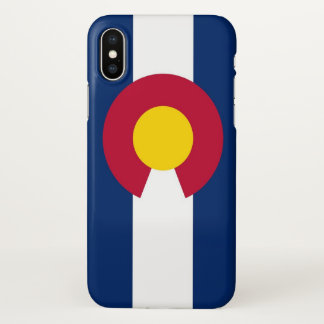 Glossy iPhone Case with Flag of Colorado, USA