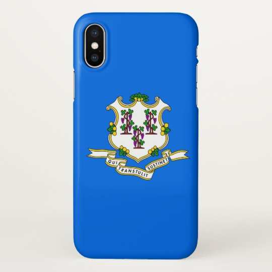 Glossy iPhone Case with Flag of Connecticut, USA
