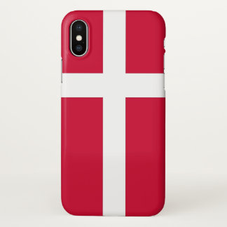 Glossy iPhone Case with Flag of Denmark