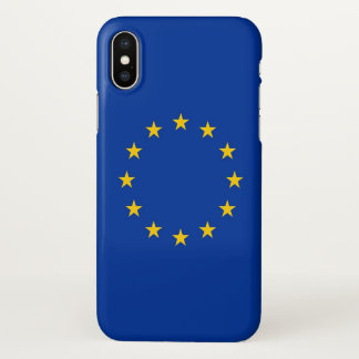 Glossy iPhone Case with Flag of European Union