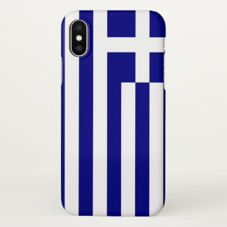 Glossy iPhone Case with Flag of Greece
