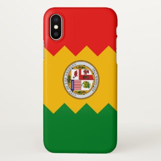 Glossy iPhone Case with Flag of Los Angeles, USA