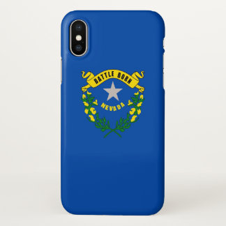Glossy iPhone Case with Flag of Nevada, USA