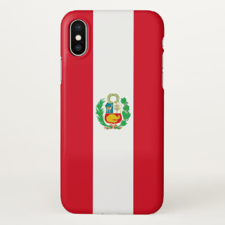 Glossy iPhone Case with Flag of Peru