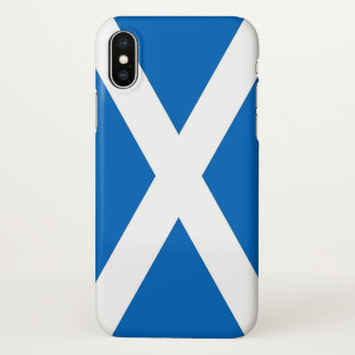 Glossy iPhone Case with Flag of Scotland