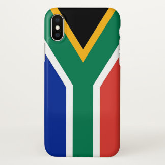 Glossy iPhone Case with Flag of South Africa