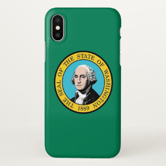 Glossy iPhone Case with Flag of Washington State