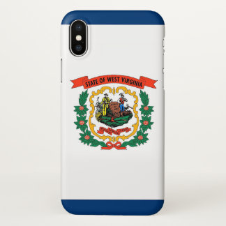 Glossy iPhone Case with Flag of West Virginia