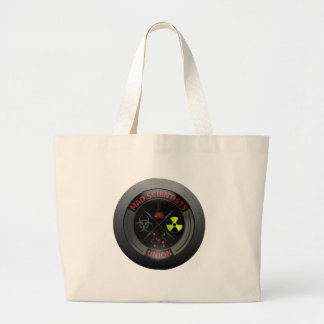Glossy Mad Scientist Union Button Jumbo Tote Bag