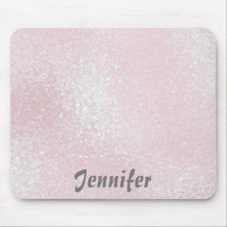 Glossy pink GIRLY Glitter PERSONALIZED YOUR NAME Mouse Pad